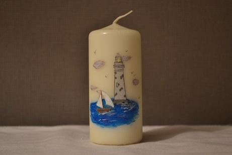 Phare en pierre et voilier candelys