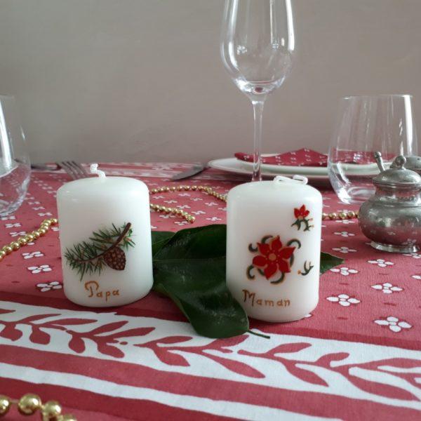 Bougie de table de Noël Candelys Bougie
