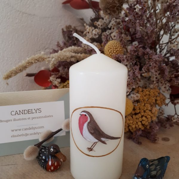 Petit Rouge-Gorge Candelys Bougie