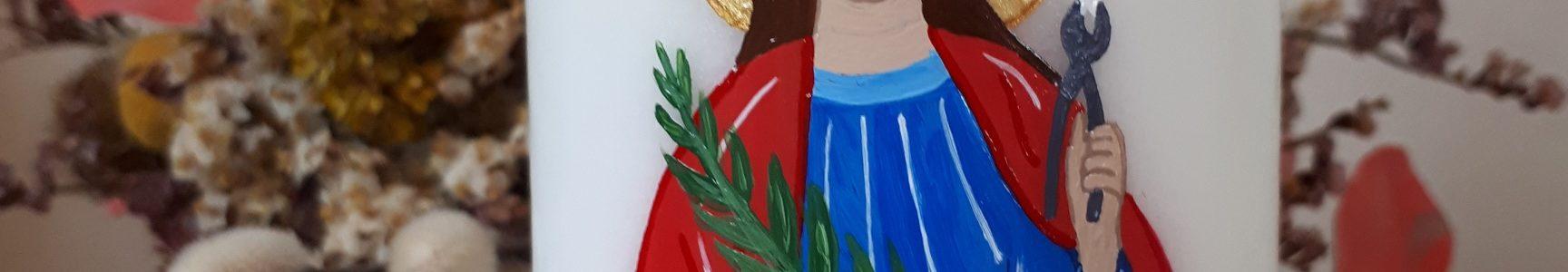 Sainte Apolline (avec ses attributs)