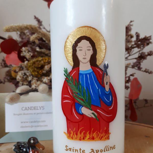 Sainte Apolline et ses attributs Candelys Bougie